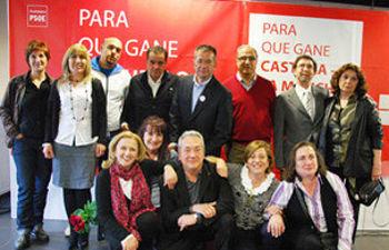 Foto de familia del acto de presentación de la candidatura del PSOE de Yebes.