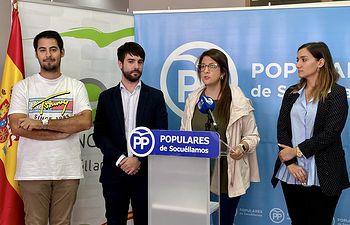 Maroto, Gómez y Espinosa en Rueda de Prensa en Socuéllamos.