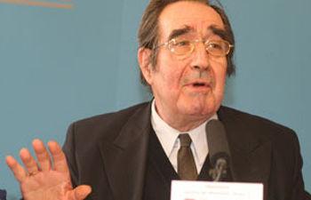 Luis Gómez Llorente en un acto reciente de la Fundación Pablo Iglesias