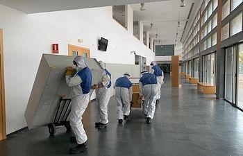 Arranca el acondicionamiento de la Facultad de Medicina de Albacete para sumar 200 camas hospitalarias.