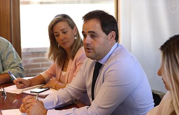 Reunión de Paco Núñez con los responsables de campaña del PP regional