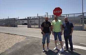 Unidas Podemos apoya a los trabajadores de la línea del ferrocarril en Albacete.