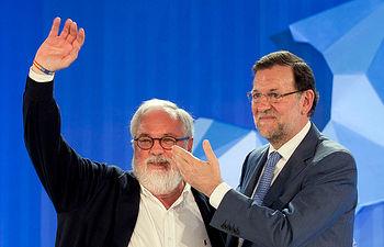 Mariano Rajoy y Arias Cañete en Málaga