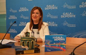 María Jesús Pérez presenta la XXVII Gala del Deporte.