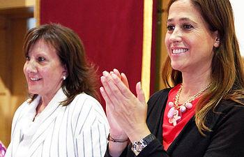 Rosa Romero con Apafes con motivo del Día Mundial de la Salud Mental