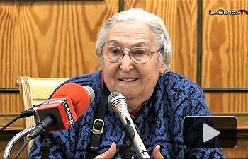 Josefina Samper, viuda del líder sindical Marcelino Camacho. Ha fallecido en la madrugada de este martes, 13 de febrero, en Madrid, a los 90 años de edad Foto La Cerca - www.lacerca.com