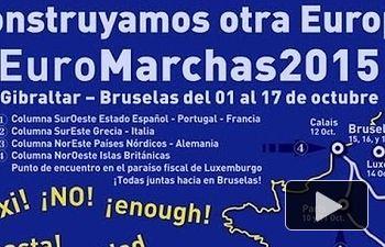 IU: Marina Albiol llama a participar en las Euromarchas 2015 desde el Pleno del Parlamento Europeo