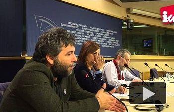 IU: Rueda de prensa presentando varias iniciativas en favor de la gestión pública del agua