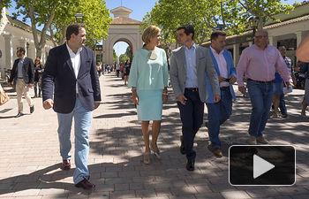 Visita de María Dolores Cospedal a la Feria de Albacete
