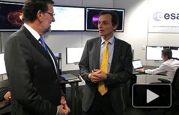 Mariano Rajoy destaca el respaldo del Gobierno al sector espacial español