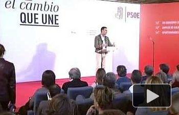 Pedro Sánchez presenta el programa electoral del PSOE