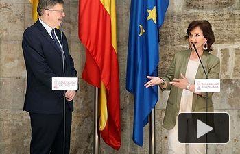 Carmen Calvo se reúne con Ximo Puig - AQUARIUS - REFUGIADOS - 14-06
