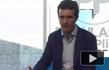 """Casado: """"Rajoy garantiza la unidad de España sin caer en provocaciones"""""""