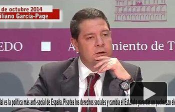 PSOE: Cospedal, la política más anti-social. Pisotea derechos sociales y da un pucherazo electoral