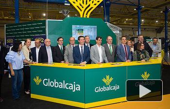 Stand de Globalcaja en Expovicaman