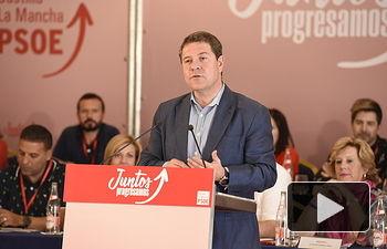 Comité regional PSOE - Emiliano García-Page - 21-07-18