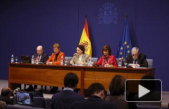 Magdalena Valerio ha presentado esta mañana el Presupuesto del Ministerio de Trabajo, Migraciones y Seguridad Social para 2019.