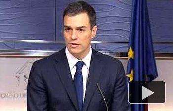 PEDRO SÁNCHEZ: Si fracasa Rajoy,  el PSOE responderá a su obligación
