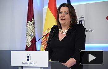 Rueda de prensa, en el Palacio de Fuensalida de Toledo, para informar sobre los acuerdos adoptados en el Consejo de Gobierno. (Fotos: José Ramón Márquez // JCCM).