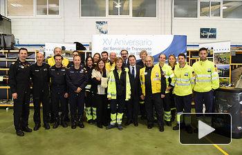 XV aniversario de la puesta en marcha del Servicio de Transporte Aéreo Sanitario