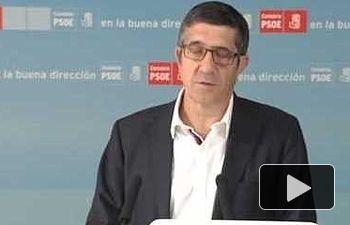 Rueda de prensa de Patxi López en Santander