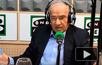 """Alfonso Guerra, entrevista en el programa """"Más de uno"""" de Onda Cero, dirigido por Carlos Alsina."""