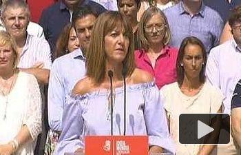 PSOE: Idoia Mendia en la presentación de candidaturas del PSE-EE