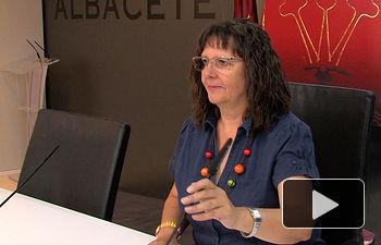 Victoria Delicado, portavoz del Grupo Municipal IU en el Ayuntamiento de Albacete.