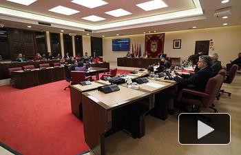 Pleno extraordinario de presupuestos en el Ayuntamiento de Albacete 2019
