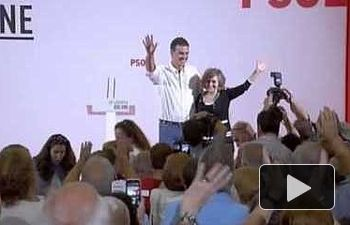 PSOE: Acto de Pedro Sánchez en Cáceres