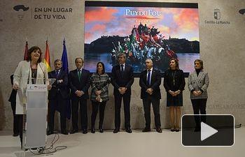 Puy du Fou se presenta en FITUR de la mano del Gobierno de Castilla-La Mancha con el objetivo de incrementar los datos récord de turismo.