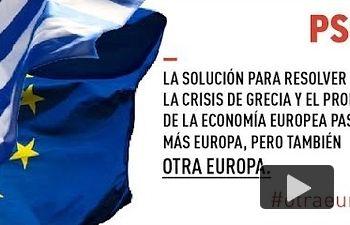 PSOE: Europa tiene que avanzar a una mayor integración social, política y económica