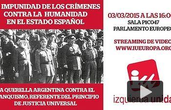 """IU: Acto """"La Impunidad de los crímenes contra la humanidad en el estado español"""""""