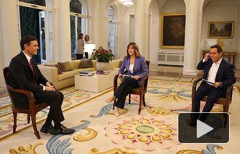 Entrevista a Pedro Sánchez en TVE - 18-06-18. Foto -Pool Moncloa.  Fernando Calvo