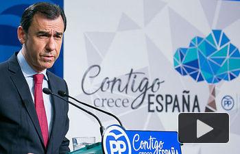 Coordinador General Martínez Maillo durante la rueda de prensa