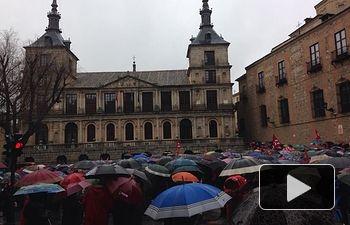 Manifestación en Toledo para exigir Pensiones Dignas.