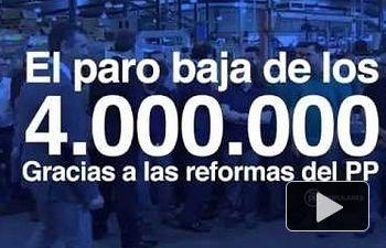 PP: El paro baja de los 4.000.000