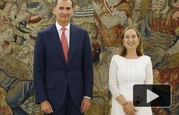 S.M. el Rey recibe a la presidenta del Congreso para comunicarle el resultado de las consultas