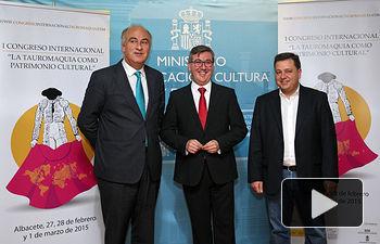 Marin presenta el I congreso Internacional La Tauromaquia como Patrimonio Cultural. Foto: JCCM.