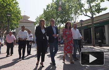 José Manuel Villegas, secretario general de Ciudadanos, en su visita a la Feria de Albacete 2018.