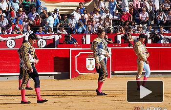 Mario Sotos - Toñete - David Martínez - paseillo 11-09-17