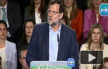 Rajoy: El objetivo del PP para Andalucía es crear 575.000 nuevos puestos de trabajo