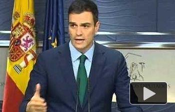 PSOE: Rueda de Prensa de Pedro Sanchez