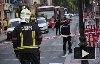 Escape de gas en la Calle Ancha de Albacete (Tesifonte Gallego)