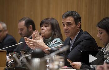 Pedro Sánchez se reúne con el GPS, Congreso.