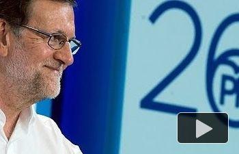 """Rajoy: """"Hay que elegir entre un gobierno encabezado por el PP o uno nucleado en torno a Podemos"""""""