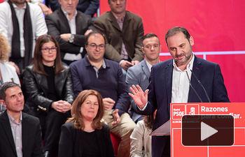 José Luis Ábalos en el acto de presentación de candidatos y candidatas a la Comunidad de Madrid en Alcorcón