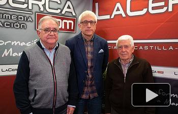 Salvador Jiménez, exalcalde de Albacete y jurista, José María Roncero, presidente de la UCE en Albacete, y Manuel Lozano Serna, director del Grupo Multimedia de Comunicación La Cerca