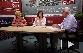 María Massó, vocal de la Asociación de Vecinos del barrio de la Pajarita; María José Simón, presidenta de la Asociación de Vecinos del barrio de la Pajarita; y Manuel Lozano, Director del Grupo Multimedia de Comunicación La Cerca