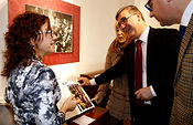 Marcial Marín en la exposición del Archivo Histórico Provincial de Albacete.